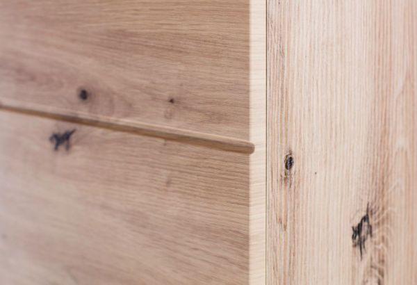 Badezimmer Hochschrank Amanda in Eiche / Asteiche Badmöbel 73 x 190 cm Badschrank Mehrzweckschrank