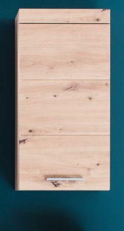 Badezimmer Hängeschrank Amanda in Eiche / Asteiche Badmöbel 37 x 77 cm Badschrank