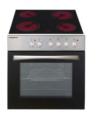 Küchenblock Anna 270 cm Eiche Asteiche Einbauküche inkl. Herd, 4 Kochplatten, Dunstabzugshaube und Kühlschrank