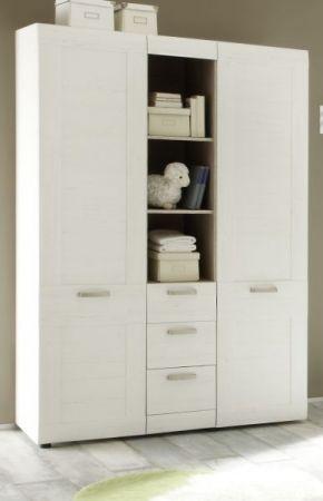 Kleiderschrank Babyzimmer Pinie weiß Struktur