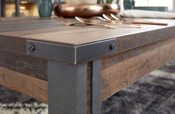 Esstisch Prime in Old Used Wood Design mit Matera grau Küchentisch Shabby Vintage Design 160 cm
