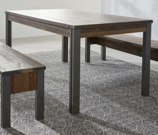 Esstisch Prime in Old Used Wood Design mit Matera grau Küchentisch Shabby 160 x 90 cm