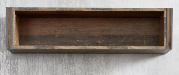 Wandregal Prime in Old Used Wood Design mit Matera grau Wandboard Shabby 113 x 29 cm