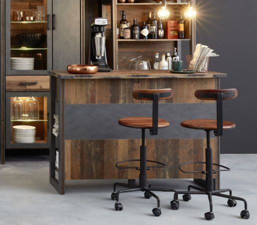 Bar Prime in Used Wood Shabby und Matera grau 140 cm