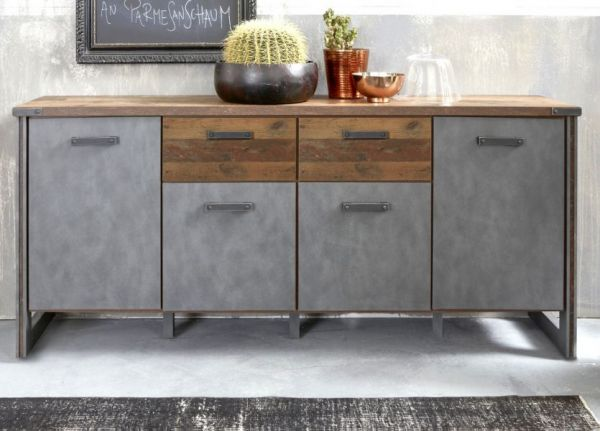 Sideboard Prime in Used Wood Shabby und Matera grau 207 cm