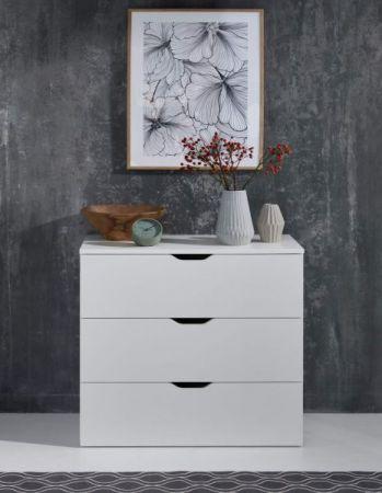 Schubkastenkommode Basix in weiß Anrichte 78 x 80 cm Kommode