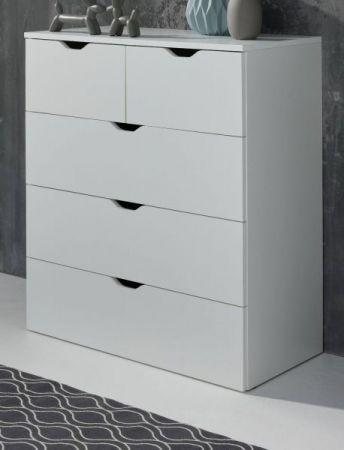 Schubkastenkommode Basix in weiß Anrichte 80 x 101 cm Kommode