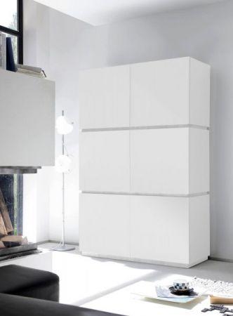 Schrank Sovana Hochschrank echt Lack matt weiß original Italien 123 x 190 cm
