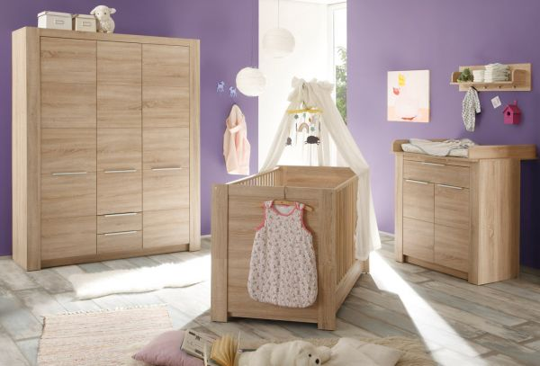 babyzimmer komplett 5 teilig eiche s gerau. Black Bedroom Furniture Sets. Home Design Ideas