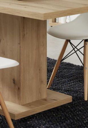 Esstisch Odino in Asteiche / Eiche Esszimmertisch 180 x 90 cm Küchentisch Säulentisch
