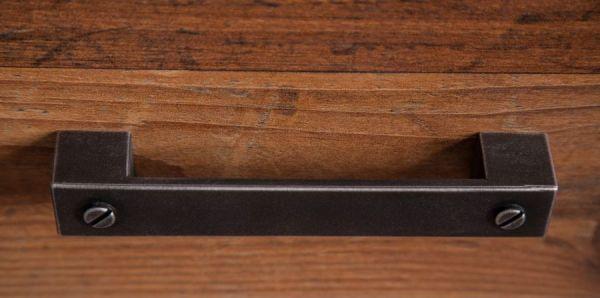Couchtisch auf Rollen in Old Used Wood Shabby Wohnzimmertisch mit Schubkasten 70 x 70 cm Indy Rooky Prime Boom