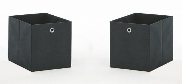 Faltbox in anthrazit Aufbewahrungsbox Stoffbox 32 x 32 cm Klappbox Sammelbox