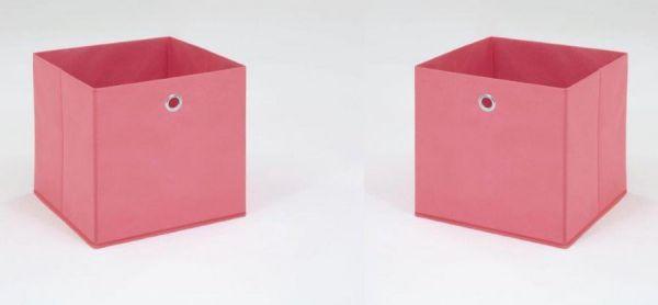 Faltbox in rosa Aufbewahrungsbox Stoffbox 32 x 32 cm Klappbox Sammelbox