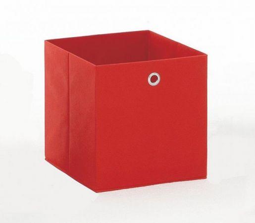 Faltbox in rot Aufbewahrungsbox Stoffbox 32 x 32 cm Klappbox Sammelbox