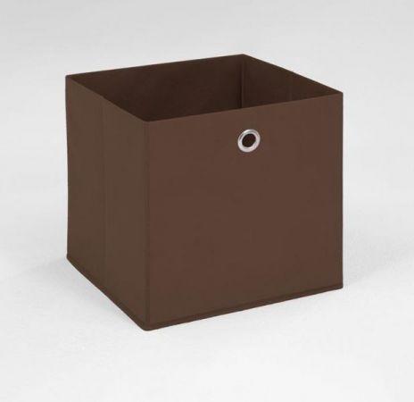 Faltbox in braun Aufbewahrungsbox Stoffbox 32 x 32 cm Klappbox Sammelbox