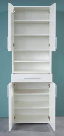 Mehrzweckschrank in weiß White 4-türig Hochschrank 50 x 187 cm Schrank