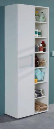Mehrzweckschrank in weiß White 1-türig Hochschrank 54 x 187 cm Schrank