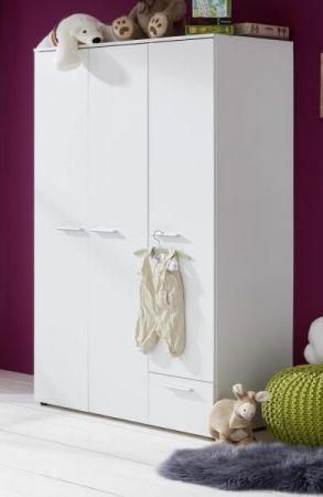 Babyzimmer Clever komplett Set 3-teilig weiß mit Wickelkommode Babybett und Kleiderschrank