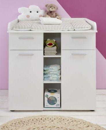 Wickelkommode Clever in weiß Babyzimmer Wickeltisch 90 x 102 cm