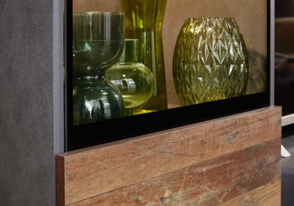 Wohnwand Mango in Old Used Wood Shabby Design mit Matera grau Schrankwand 4-teilig 246 x 182 cm