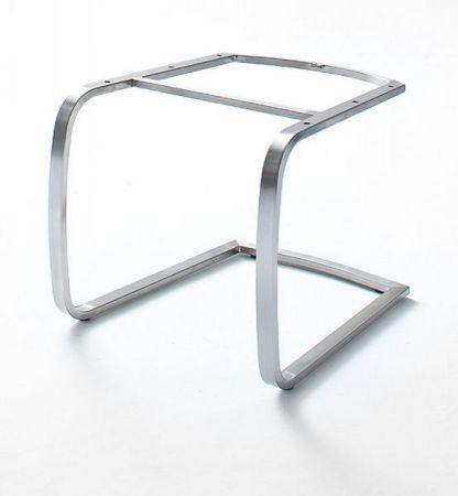 2 x Stuhl Flores in Kiwi Kunstleder und Edelstahl Freischwinger Flachrohr Esszimmerstuhl 2er Set