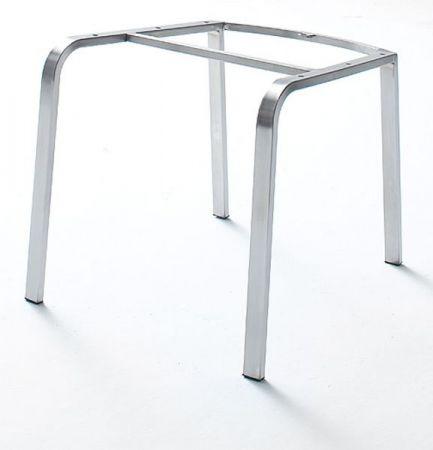 2 x Stuhl Flores in Braun Kunstleder und Edelstahl 4-Fuß Esszimmerstuhl 2er Set