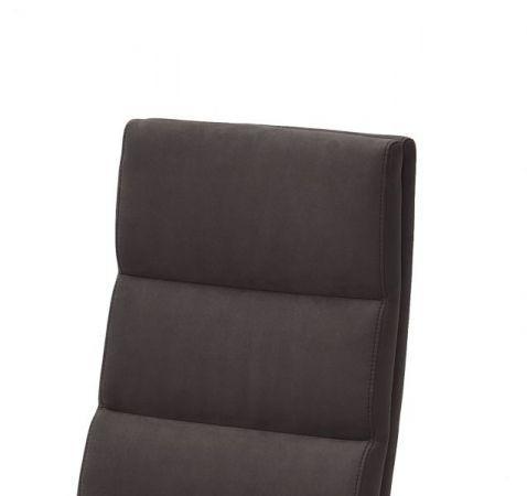 2 x Stuhl Giulia in Anthrazit Leder und Edelstahl Freischwinger mit Griff hinten Flachrohr Esszimmerstuhl 2er Set
