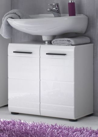 """Waschbeckenunterschrank """"Skin"""" weiß Hochglanz (60x56 cm)"""