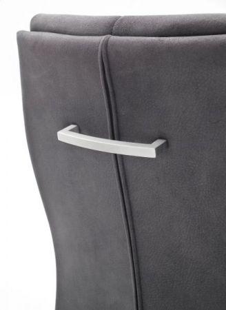 2 x Stuhl Salva in Schwarz Vintage und Edelstahl Freischwinger Luxus Komfortsitz Esszimmerstuhl 2er Set