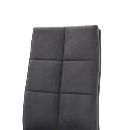 2 x Stuhl Salva in Grau Vintage und Edelstahl Freischwinger Luxus Komfortsitz Esszimmerstuhl 2er Set