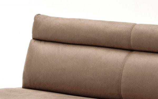 Sitzbank Rabea in Sand Vintage Lederlook und Edelstahl Flachrohr Küchenbank mit Kufengestell Polsterbank 180 cm