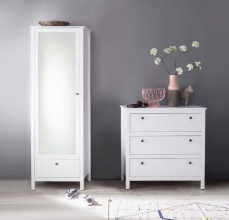 Garderobenset 2-teilig weiß Garderobenkombination Ole Garderobe oder großer Schuhschrank und Kommode 168 x 192 cm