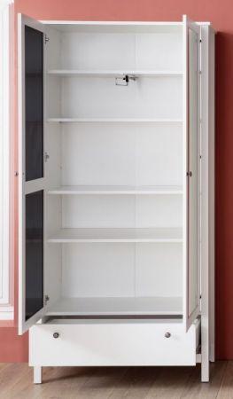 Garderobenset 2-teilig weiß Garderobenkombination Ole Garderobe oder großer Schuhschrank und Kommode 198 x 192 cm