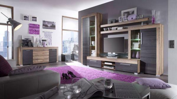 """Wohnzimmer: Couchtisch """"Universal"""" Nussbaum Satin (110 x 65 cm) mit Ablage"""