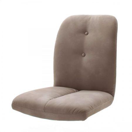 2 x Stuhl Tessera in Schlamm Kunstleder und Freischwinger Anthrazit lackiert Esszimmerstuhl 2er Set