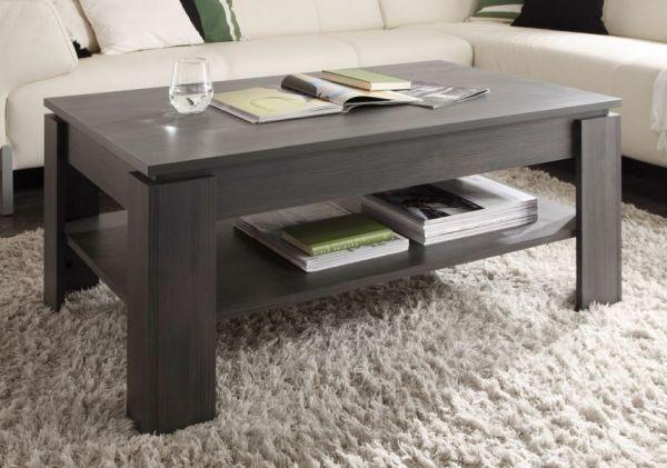 """Wohnzimmer: Couchtisch """"Universal"""" Esche grau (110 x 65 cm) mit Ablage"""