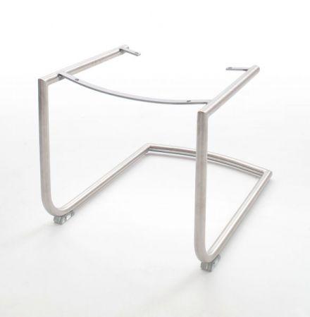 2 x Stuhl Tessera in Schlamm Kunstleder und Freischwinger Edelstahl Esszimmerstuhl 2er Set
