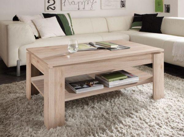 couchtisch san remo eiche 110 x 65 cm mit ablage. Black Bedroom Furniture Sets. Home Design Ideas