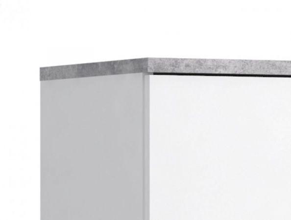 Schuhschrank Boots in weiß und Stone Design grau Kommode für Flur und Diele 69 x 120 cm