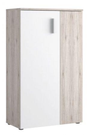 Schuhschrank Boots in weiß und Sandeiche / Eiche Kommode für Flur und Diele 69 x 120 cm