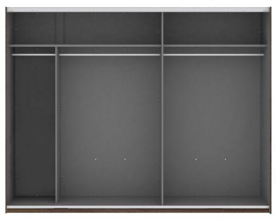 Schwebetürenschrank Kleiderschrank Bellevue in Eiche / Schlammeiche 2-türig 270 x 210 cm