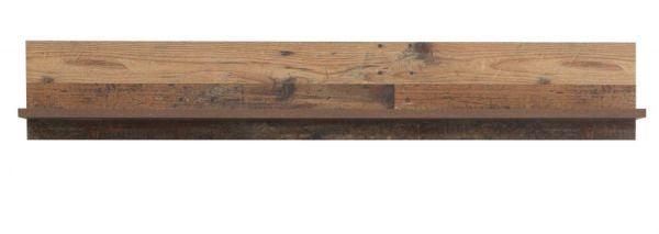 Wandboard Clif in Old Used Wood Shabby Wandregal 160 x 26 cm Bücherregal
