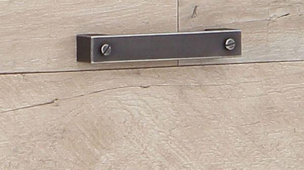 TV-Lowboard Clif in Eiche Vintage mit Betonoptik grau TV-Unterteil Vintage 161 x 64 cm
