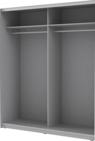 Schwebetürenschrank Kleiderschrank Clif Binou in Old Used Wood Shabby mit Betonoptik grau 2-türig 220 x 211 cm