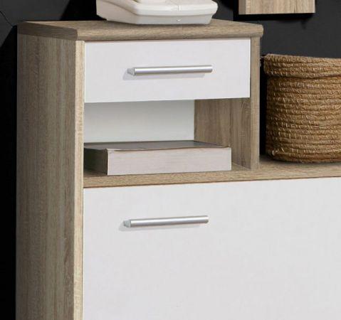 Garderobe Garderobenkombination Foxi 2-teilig Sonoma Eiche hell sägerau und weiß 98 x 180 cm