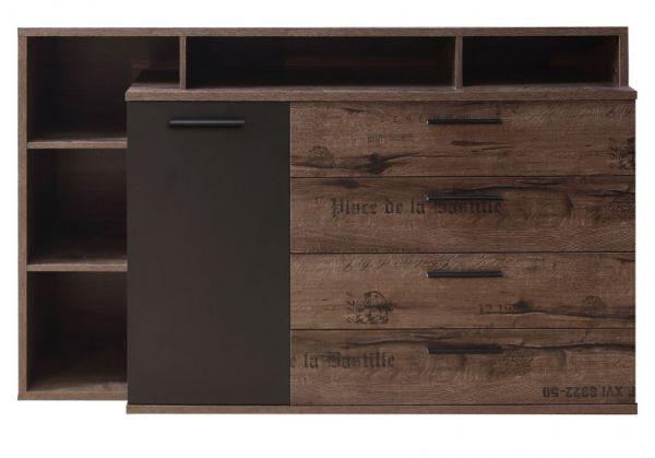 Sideboard Jacky in Eiche / Script Schlammeiche Schwarzeiche Kommode 153 x 99 cm