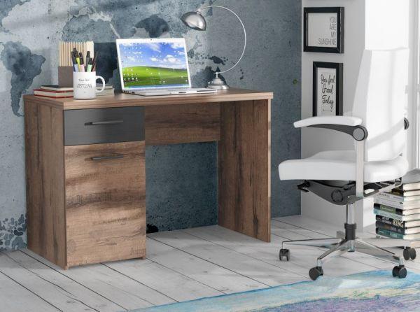 Jugendzimmer Schreibtisch Jacky in Eiche / Script Schlammeiche Schwarzeiche mit Unterschrank 110 x 53 cm