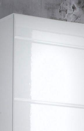 Hochschrank Badmöbel Skin Hochglanz weiß