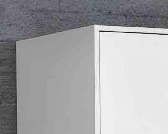 Kleiderschrank Jupiter in weiß matt Drehtürenschrank 3-türig 145 x 200 cm