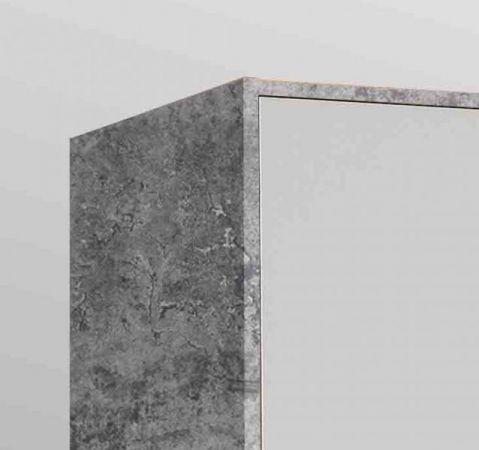 Kleiderschrank Jupiter in Stone Design grau und weiß matt Drehtürenschrank 3-türig 145 x 200 cm